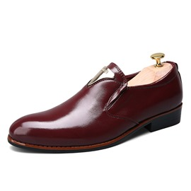 Ericdress Plain Pointed Toe Slip-On Men's Dress Shoes