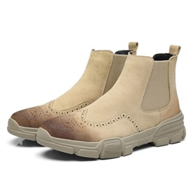 Ericdress PU Round Toe Slip-On Men's Boots