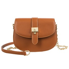 Ericdress Chain Plain Geometric Saddle Bags