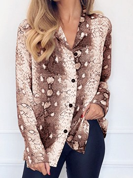Ericdress Print Serpentine Regular Long Sleeve Mid-Length Blouse