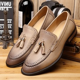 Ericdress Slip-On Fringe Men's Dress Shoes