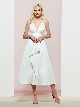 Ericdress Tiered A-Line Spaghetti Straps Evening Dress 2019