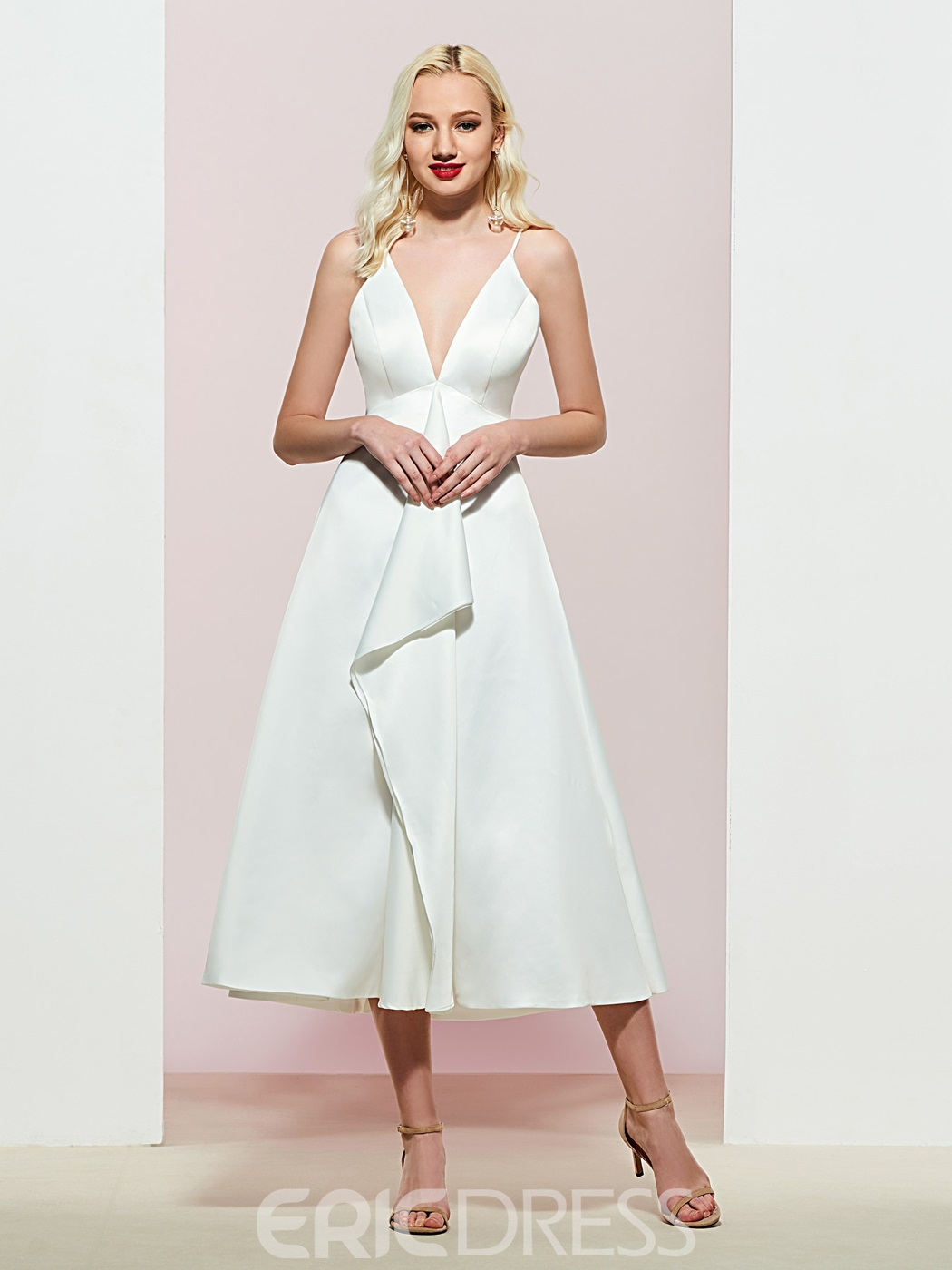 Ericdress Tiered A-Line Spaghetti Straps Evening Dress