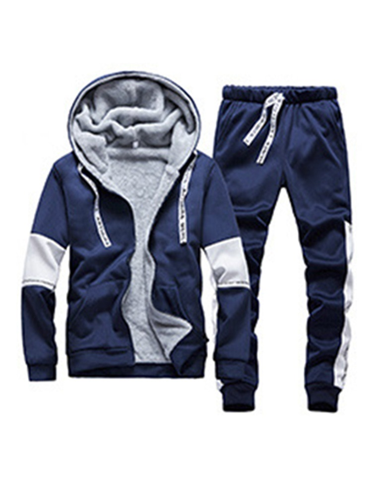 Ericdress Casual Print Jacket Men's Sports Suits