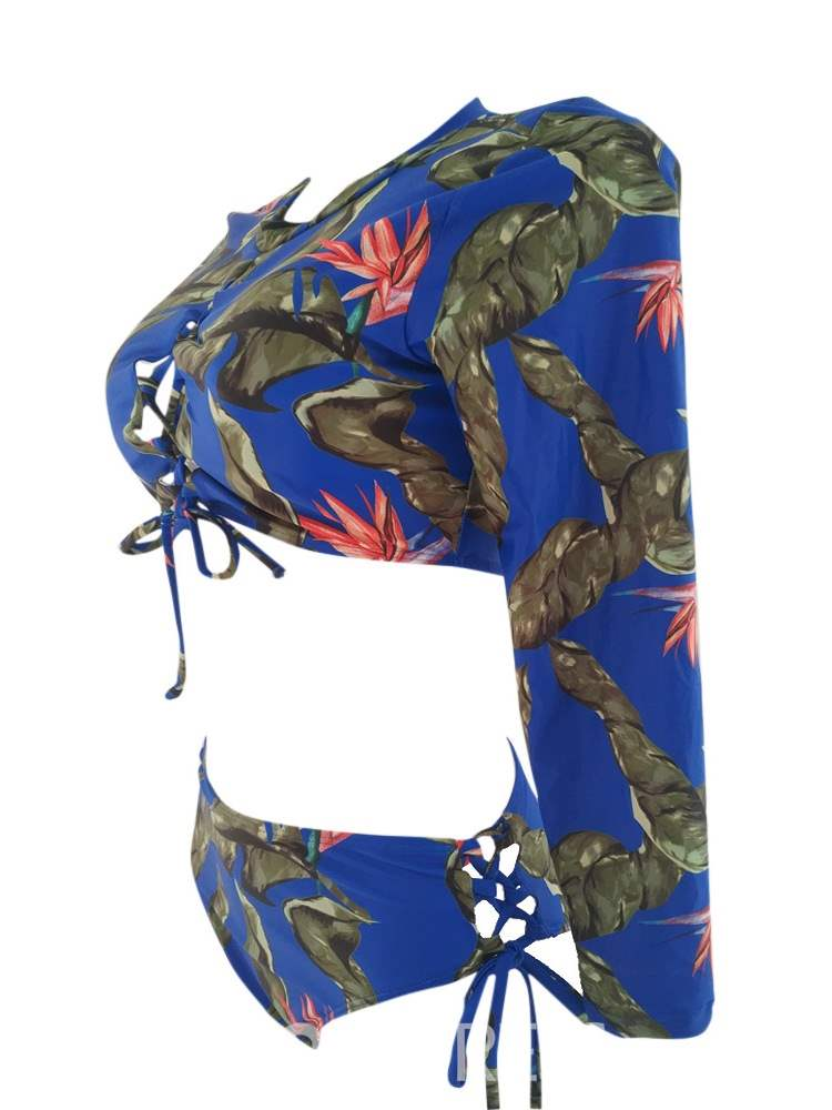 Ericdress Print Hollow Tankini Set Beach Look Swimwear
