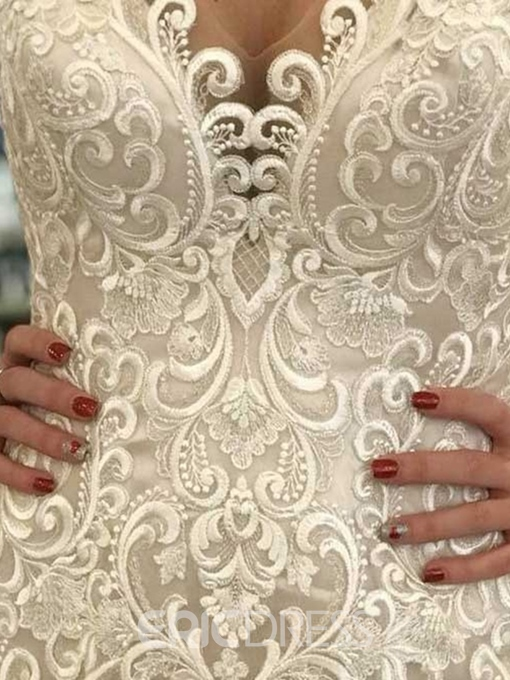 Ericdress Embroidery Lace Hall Mermaid Wedding Dress