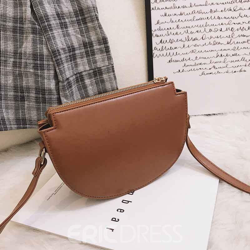 Ericdress Fashion Plain Color Block Saddle Bags