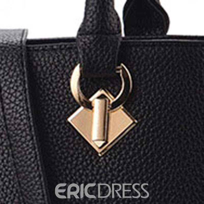 Ericdress PU Patchwork Square Tote Bags