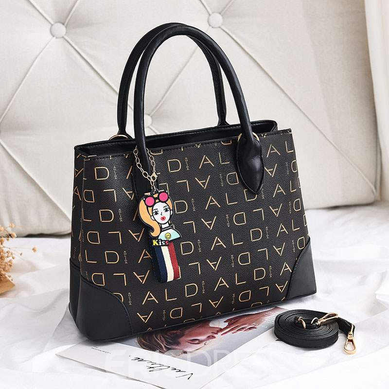 Ericdress PU Letter Thread Square Tote Bags