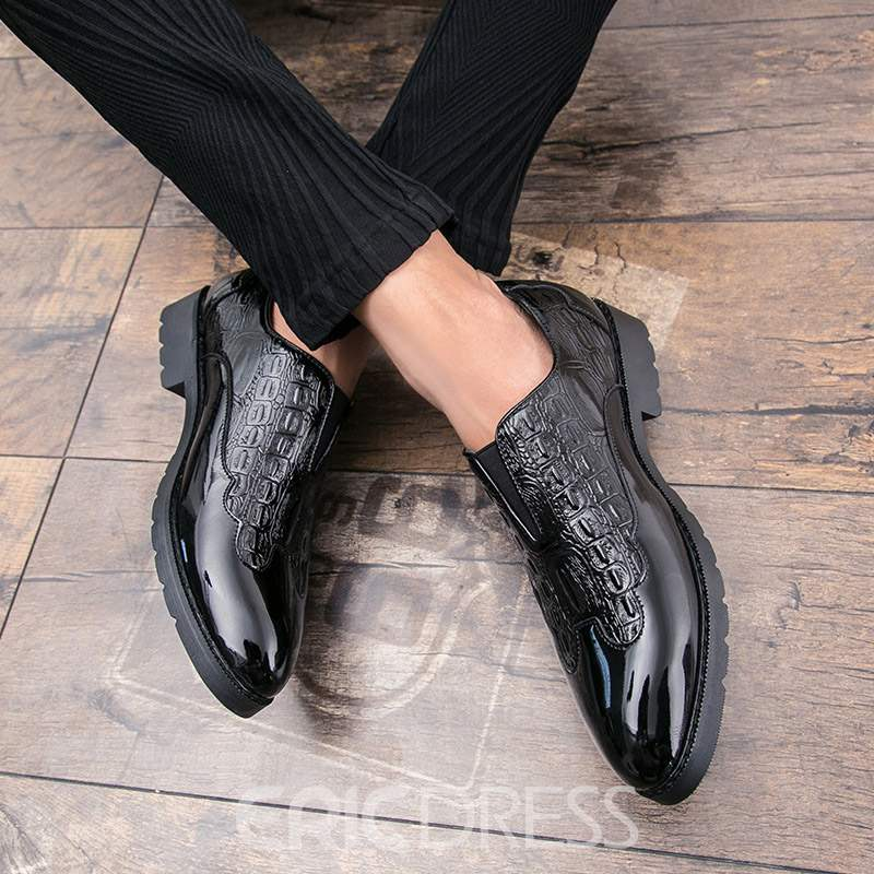 Ericdress Alligator Pattern Round Toe Men's Dress Shoes