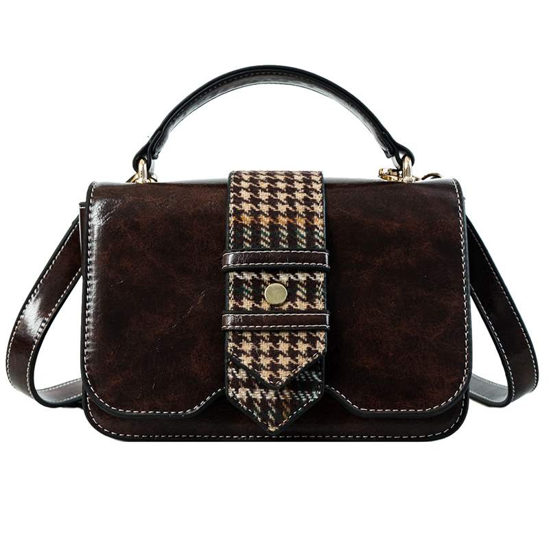 Ericdress Casual Plaid PU Rectangle Tote Bags