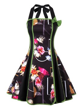 ericdress robe de cocktail en ligne multicolore