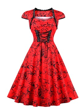 Ericdress Red Knee-Length Sweetheart A-Line Cocktail Dress 2019