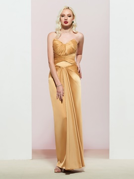 Ericdress Sweetheart Pleats Sheath Evening Dress 2020