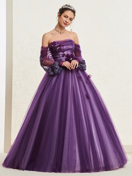 Ericdress Ball Gown Strapless Appliques Quinceanera Dress