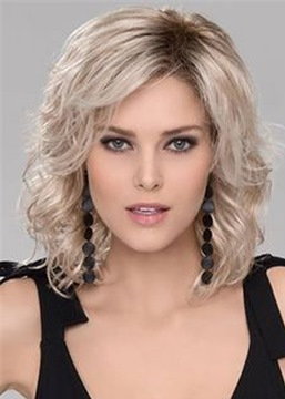 Ericdress Fashion Stylish Medium Big Curly Layered Synthetic Hair Capless Wig 14 Inches