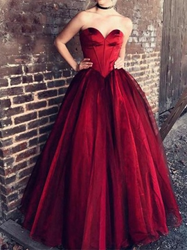 Ericdress A-Line Floor-Length Sweetheart Evening Dress