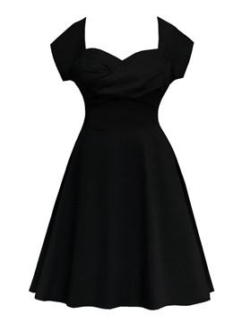 Ericdress A-Line Cap Sleeves Knee-Length Sweetheart Cocktail Dress 2019
