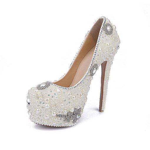 Ericdress Rhinestone Platform Stiletto Heel Women's Wedding Shoes