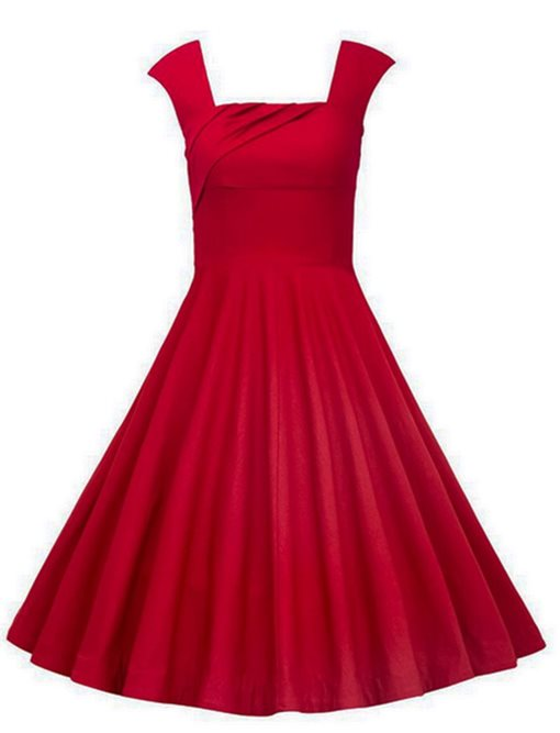 Ericdress Knee-Length Straps Red A-Line Cocktail Dress 2019