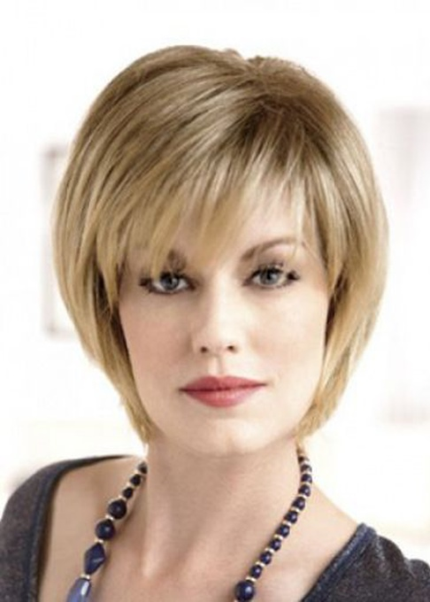 Ericdress Style Short Layered Natural Straight Human Hair With Bangs Lace Front Wig 10 Inches