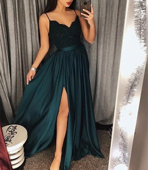 Ericdress A-Line Sleeveless Floor-Length Prom Dress