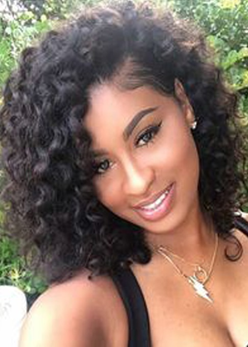 Ericdress Kinky Curly Natural Black Loose Medium Layered Synthetic Hair African American For Black Women Capless 16 Inches