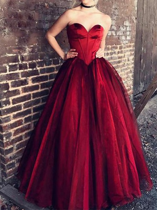Ericdress A-Line Floor-Length Sweetheart Evening Dress 2019
