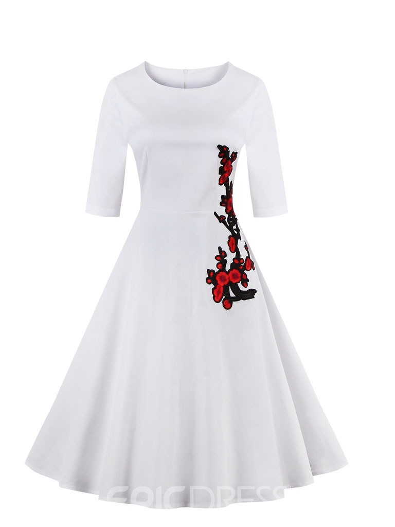 Ericdress Short Sleeves A-Line Knee-Length Homecoming Dress