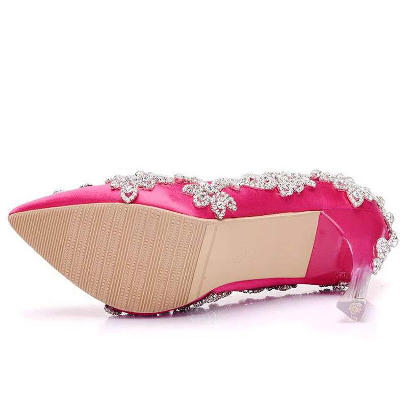 Ericdress Silk Fabric Rhinestone Slip-On Wedding Shoes