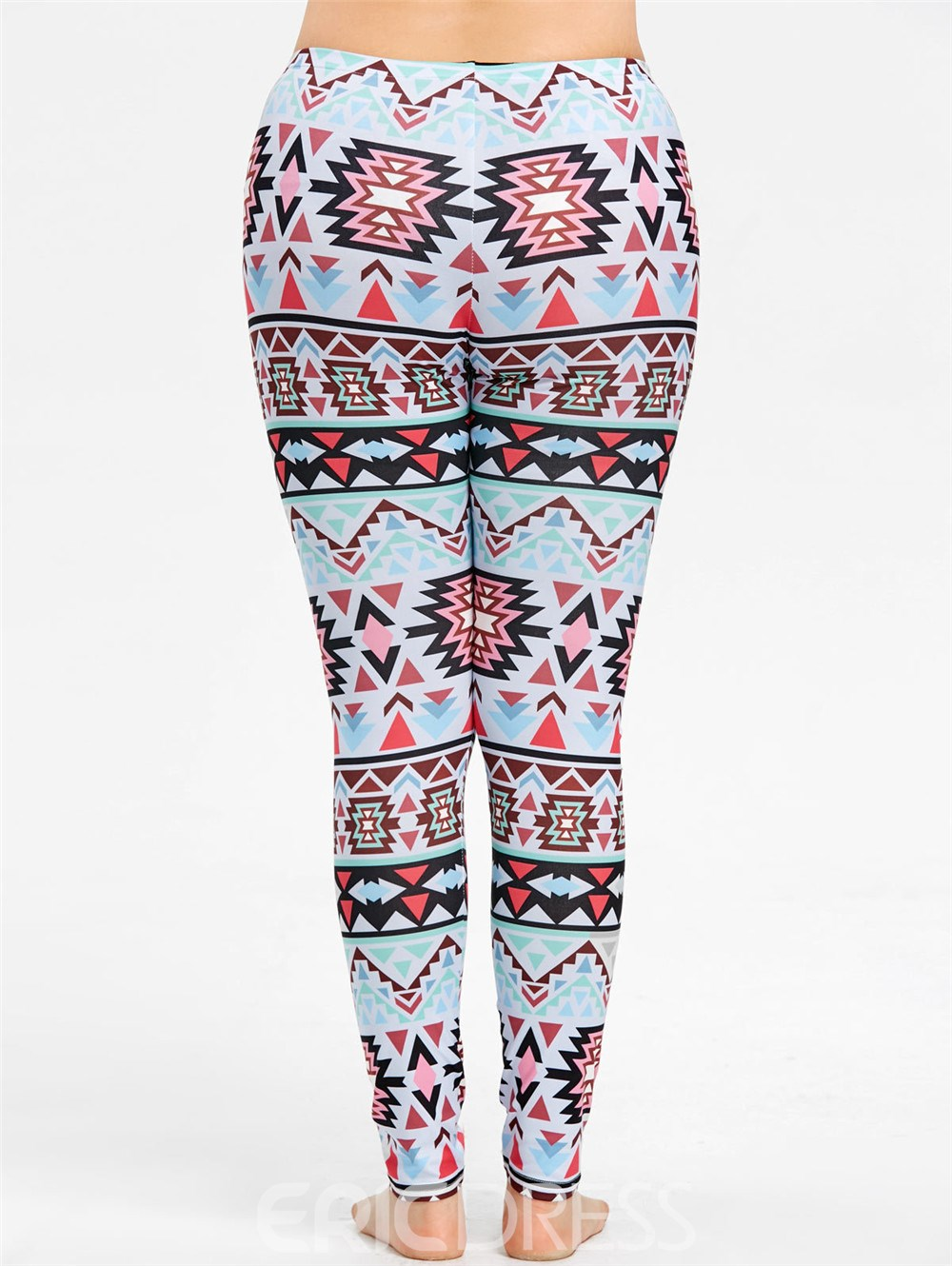Leggings de talle alto con estampado informal en color block