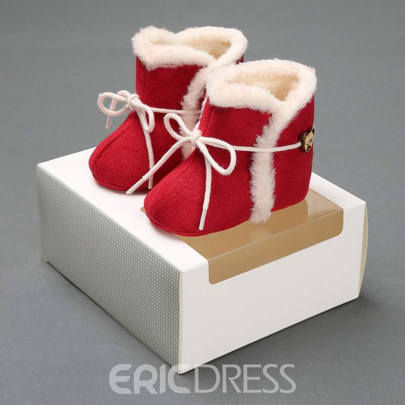 Ericdress Plain Lace-Up Toddler Shoes
