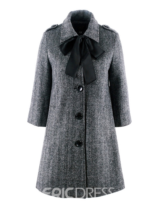 Ericdress Single-Breasted Loose Button Fall Mid-Length Overcoat