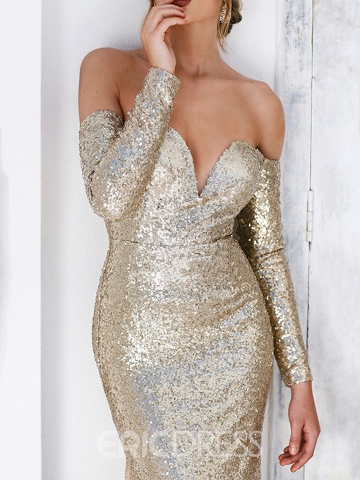 Ericdress Split-Front Sequin Mermaid Evening Dress