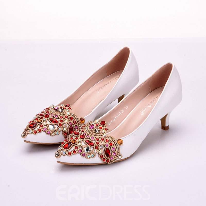 Ericdress Rhinestone Pointed Toe Stiletto Heel Rhinestone Wedding Shoes