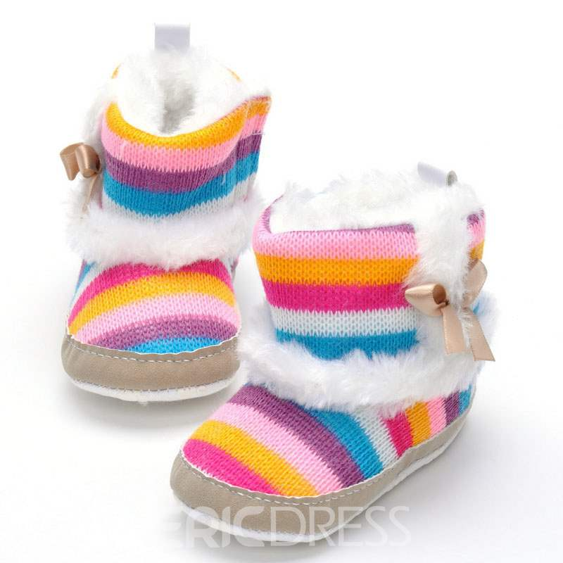 Ericdress Stripe Slip-On Toddler Shoes