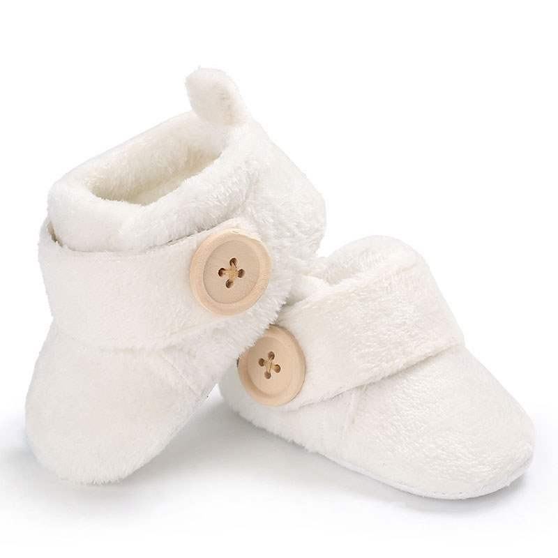 Ericdress Plain Velcro Button Toddler Shoes