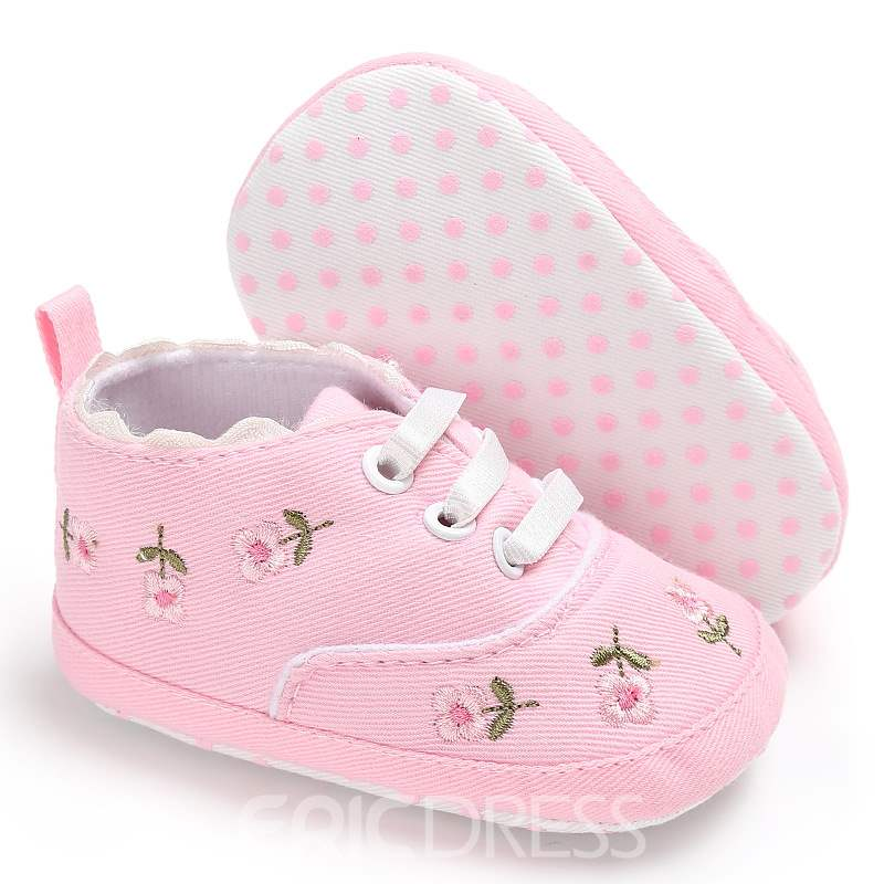 Ericdress Embroidery Lace-Up Toddler Shoes