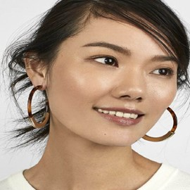 Ericdress Leopard Hoop Earrings
