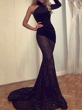 Trumpet/Mermaid High Neck Floor-Length Evening Dress