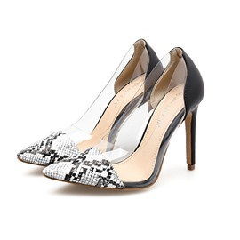 Ericdress Pointed Toe Serpentine Stiletto Heel Women's Pumps