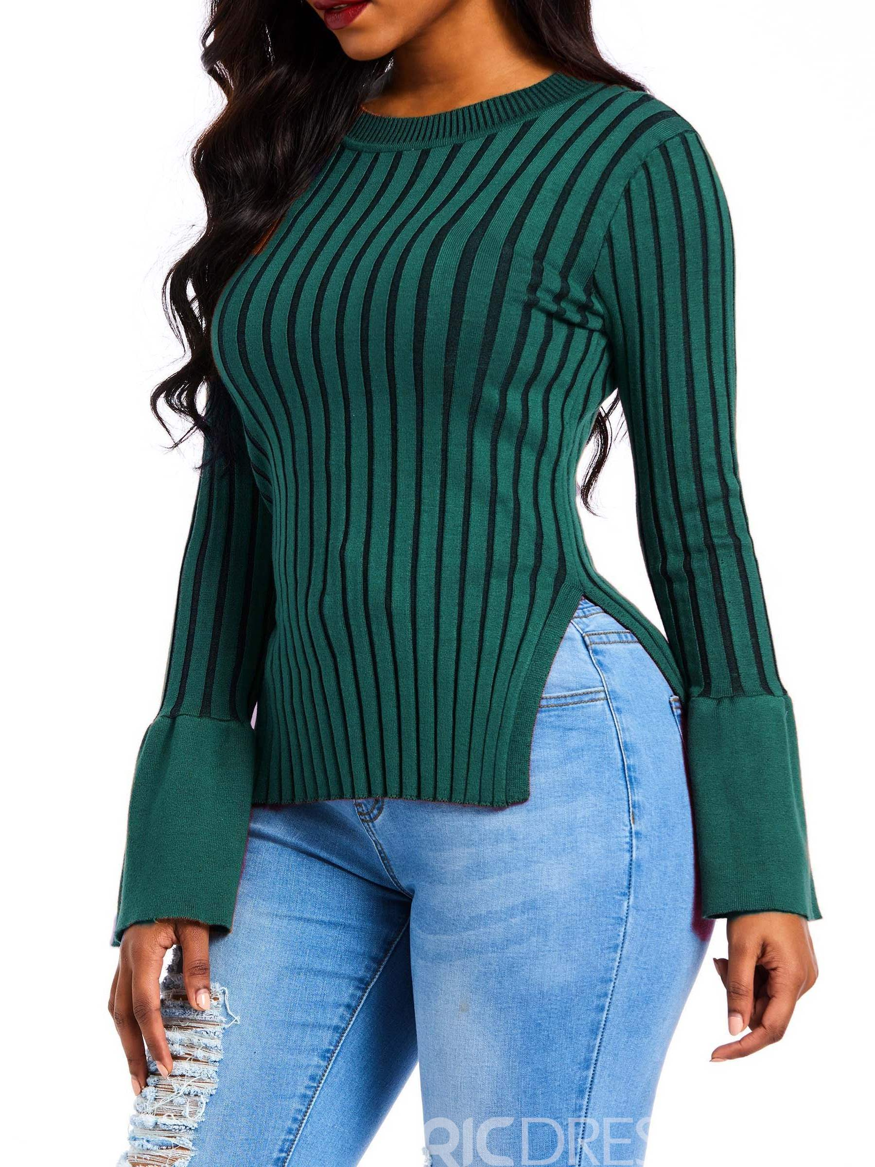 Ericdress Long Sleeve Fall Pullover Sweater
