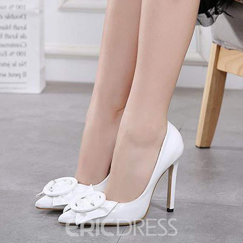 Ericdress Bowknot Pointed Toe Slip-On Women's Pumps