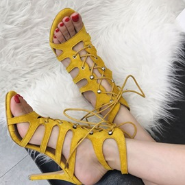 Ericdress Slingback Strap Lace-Up Women's Sandals