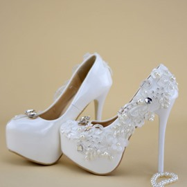 Ericdress Platform Stiletto Heel Round Toe Wedding Shoes