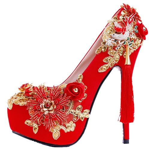 Ericdress Rhinestone Round Toe Wedding Shoes
