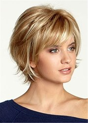 Ericdress Womens Short Choppy Layered Wavy Synthetic Hair Capless Wigs 12inches фото