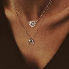 Ericdress Heart-Shaped Hollow Out Necklace