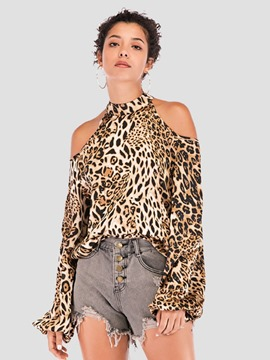 Ericdress Leopard Long Sleeve Standard Blouse