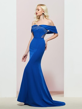 Ericdress Off-The-Shoulder Mermaid Floor-Length Evening Dress